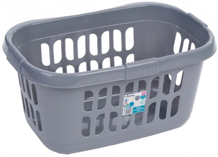 Casa Hipster Laundry Basket 60Cm X 39Cm X 30.5Cm Silver