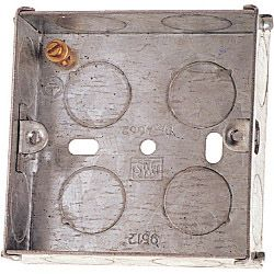 Dencon 45Mm 1 Gang Metal Box To Bs4664 Pre-Packed