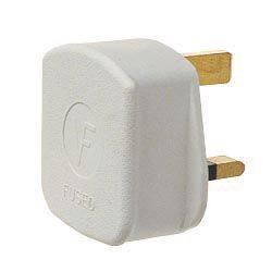 Dencon 13A 3 Pin Rubber Plug White To Bs1363/A Pre-Packed