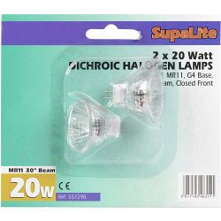 Supalite Mr11 Halogen Reflector Lamps 12V 20W 30Ï¿½ Beam