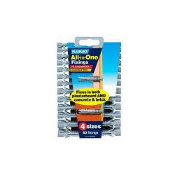 Plasplugs All In One Better Value Fixings 52 Pack