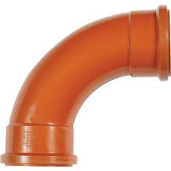 Polypipe Double Socket Bend 87 1/2 Degrees (Long Radius)