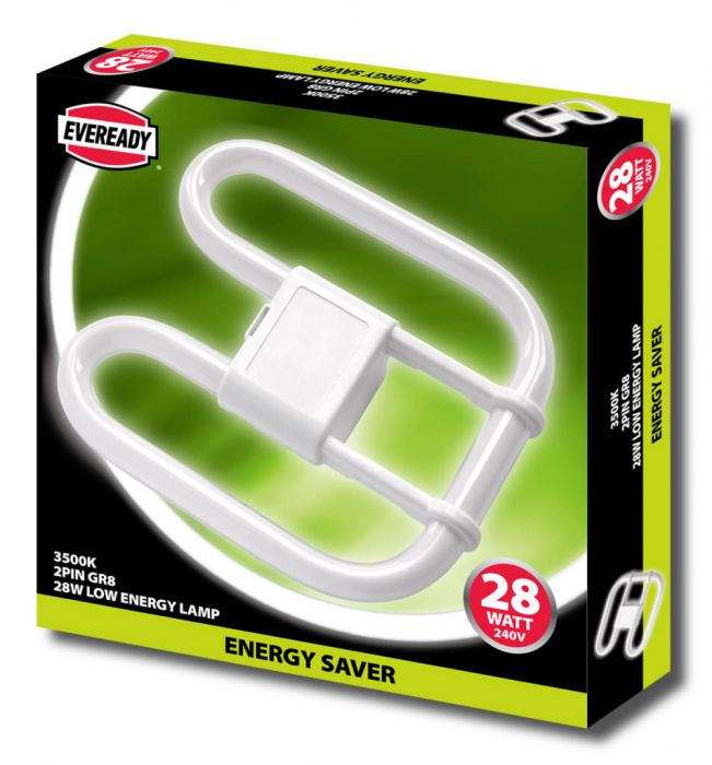 Eveready 2D Lamp 28W 2 Pin 240V Cfl