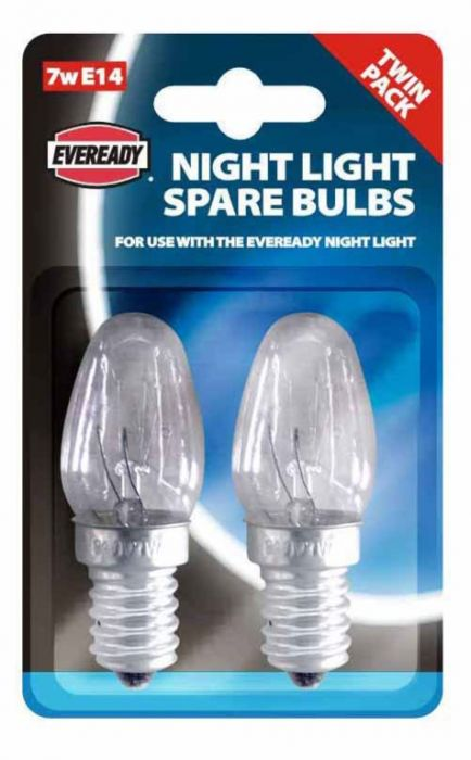 Eveready Night Light Spare Bulbs E14 Twin Pack