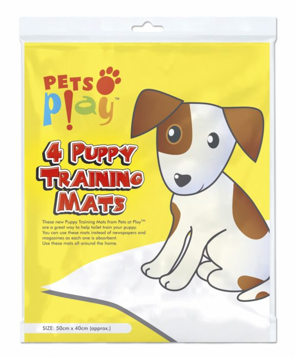 Pets At Play Puppy Training Mat 50Cm X 40Cm 4 Pack