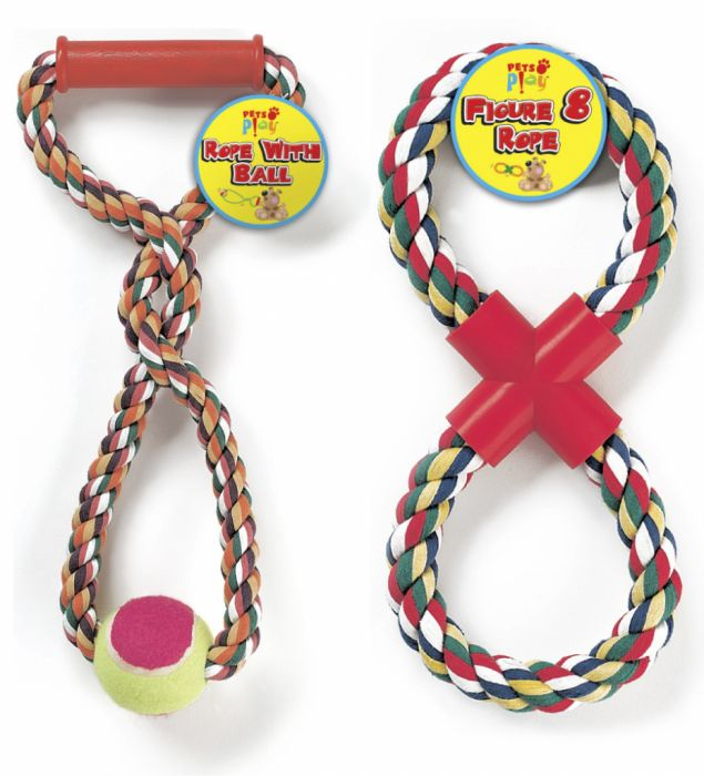 Pets At Play Rope With Ball & Figure 8 Rope