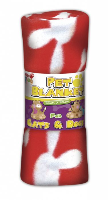 Pets At Play Pet Blanket (Assorted Colours) 80Cm X 80Cm