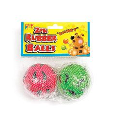Pets At Play Rubber Balls 2 Pack