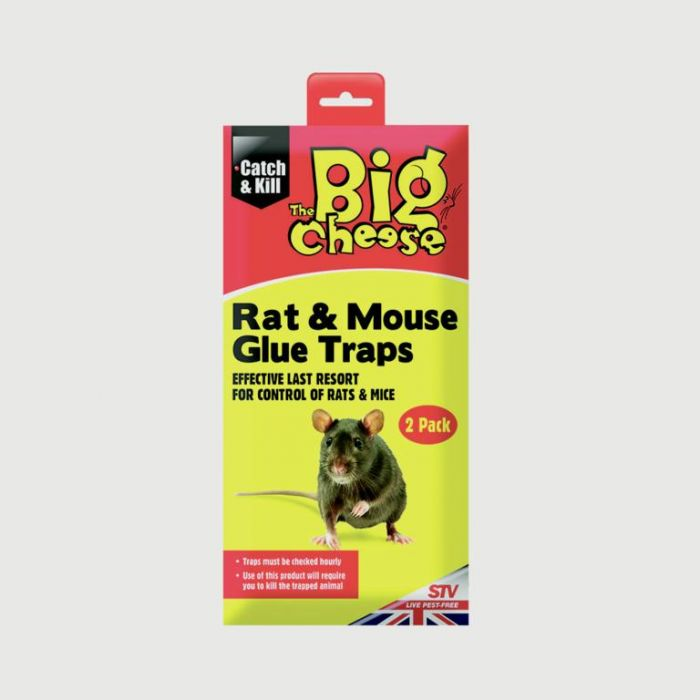 The Big Cheese Rtu Rat & Mouse Glue Traps Twinpack