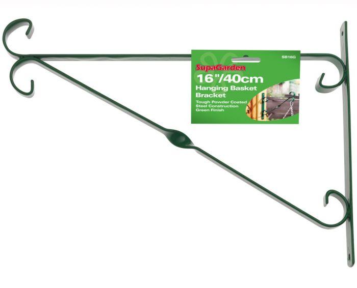 Ambassador Hanging Basket Bracket 40Cm/16 Green