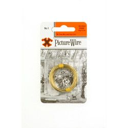 X Brass Picture Wire (Blister Pack) No. 1