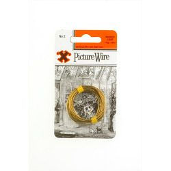 X Brass Picture Wire (Blister Pack) No. 2
