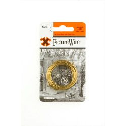X Brass Picture Wire (Blister Pack) No. 3