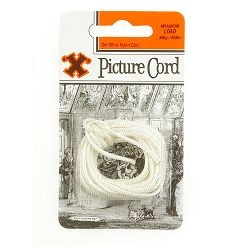 X Picture Cord - White Nylon (Blister Pack)