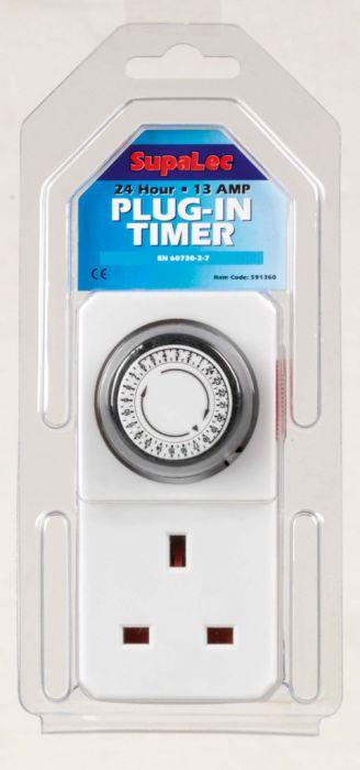 Supalec Plug-In Timer 24 Hour