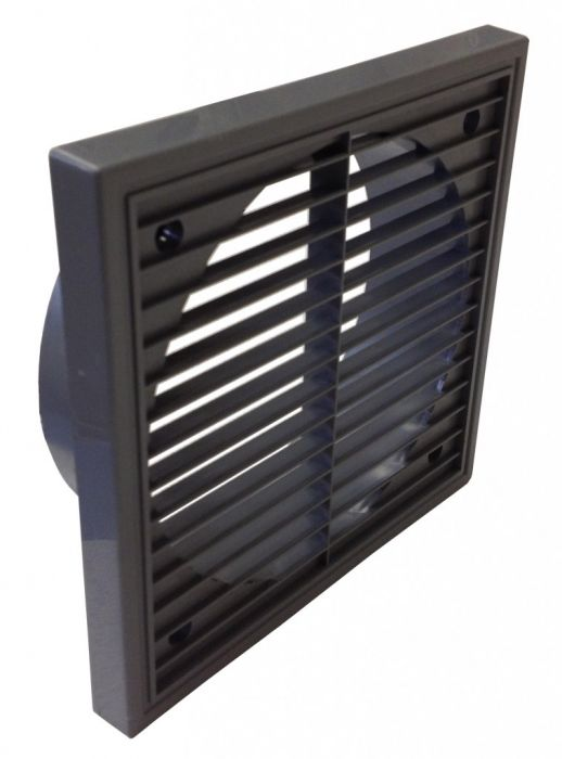 Manrose Fixed Grill + Spigt 6 Grey