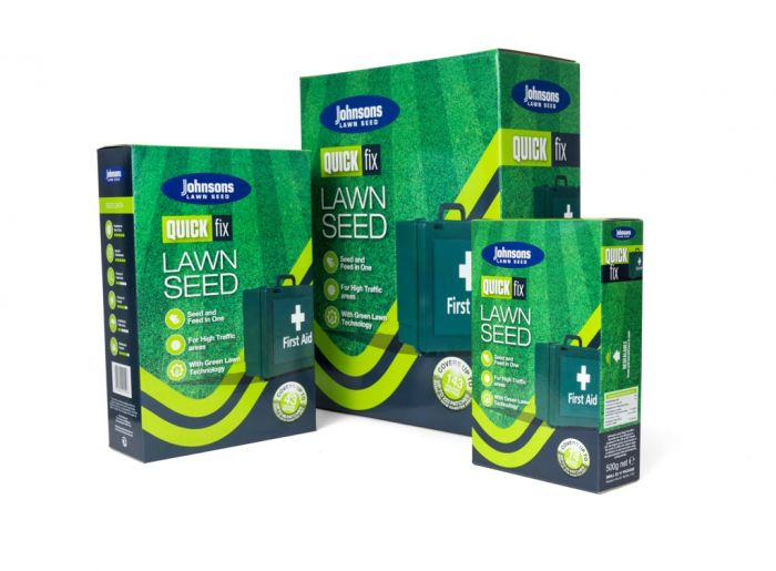 Johnsons Lawn Seed Quick Fix With Growmore 500G Carton