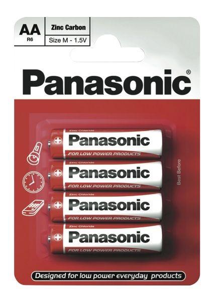 Panasonic Zinc Carbon Batteries Pack 4 Aa Size