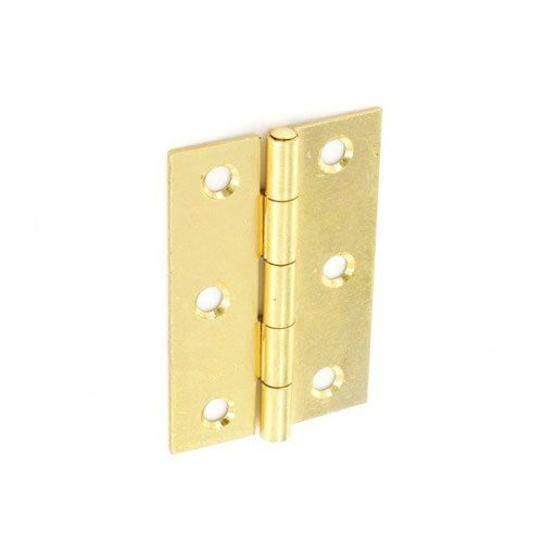 Securit Steel Butt Hinges Brass Plated (1 1/2 Pair) 100Mm