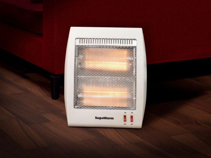 Supawarm Halogen Heater 800W Size:268Mm(W)X130mm(D)X370mm(H)