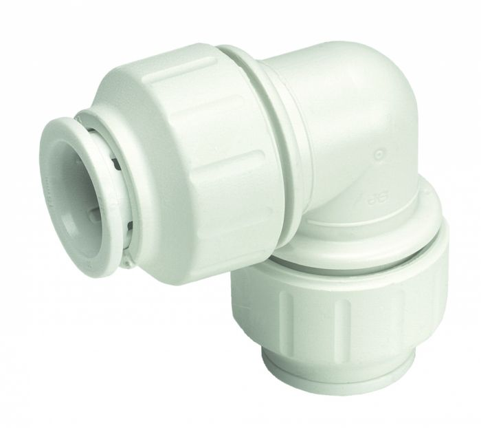Jg Speedfit Equal Elbow Connector 22Mm Pack 5 - White