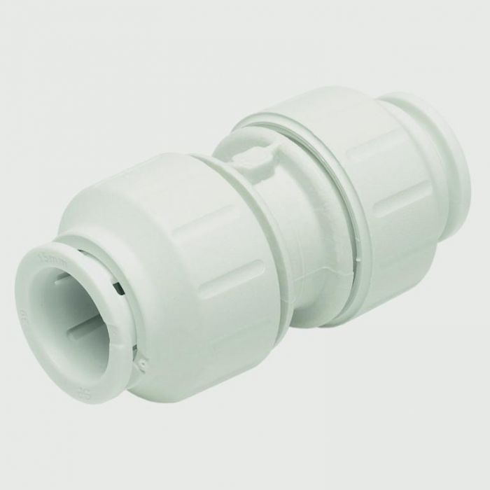 Jg Speedfit Equal Straight Connector 15Mm Pack 10 - White