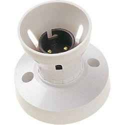 Dencon Bc Ho Skirt White 3 Terminals Deep Base T1 Batten Lampholder Pre-Packed