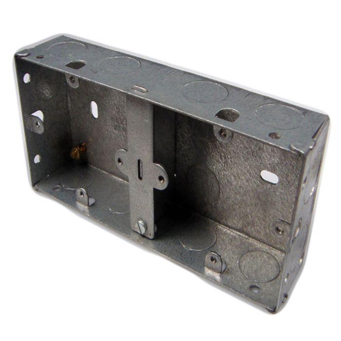 Dencon 2 Gang 35Mm Dual Metal Box