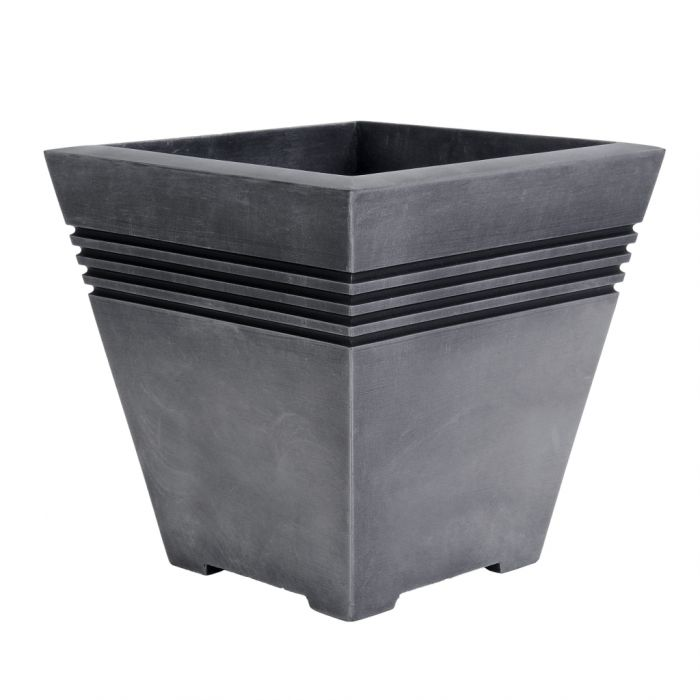 Sankey Milano Tall Square Planter 32Cm Pewter