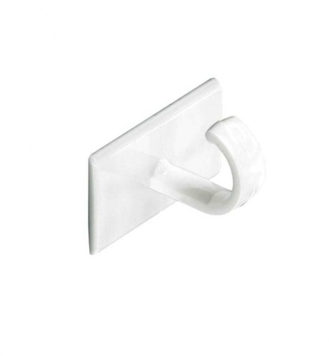 Securit Self-Adhesive Cup Hooks (4) White S6350