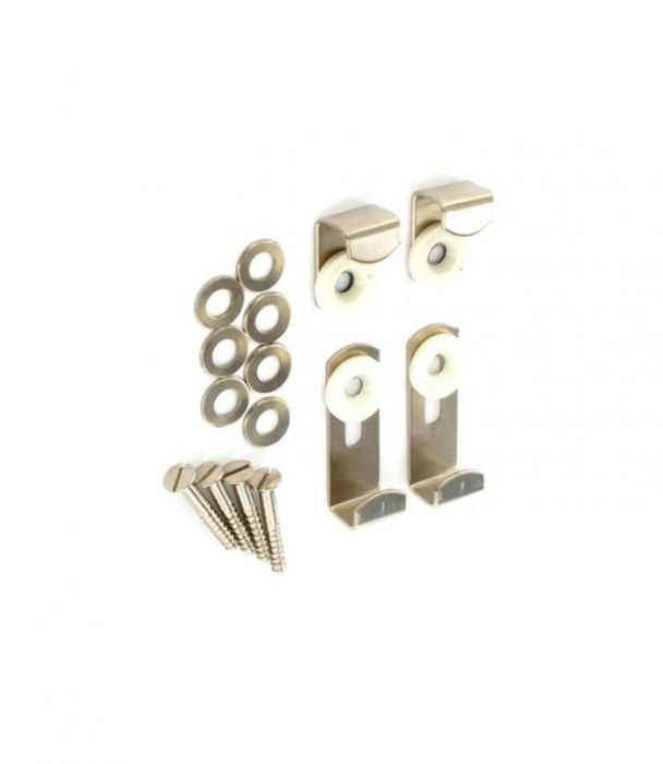 Securit Mirror Brackets Adjustable Nickel Plated 1 Set