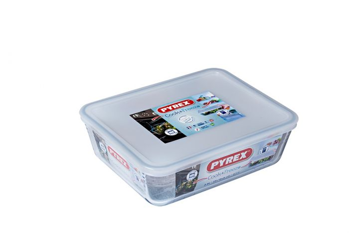 Pyrex Cook & Freeze Glass Dish With Lid 1.5L