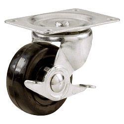 Select Swivel Castors Rubber Wheel With Wheel Brake 51Mm
