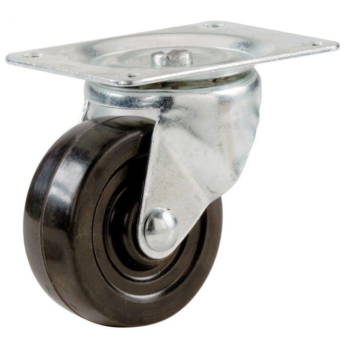 Select Swivel Castors Rubber Wheel 75Mm