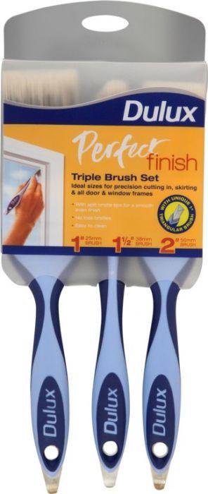 Dulux Perfect Finish Brush Set Triple Pack