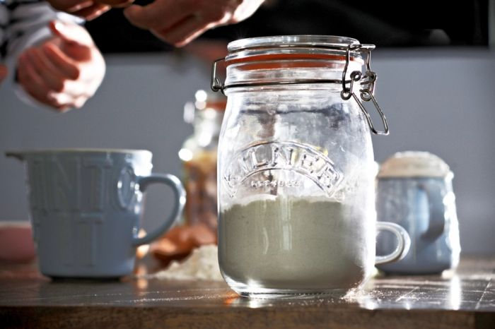 Kilner Clip Top Jar - Round 1L