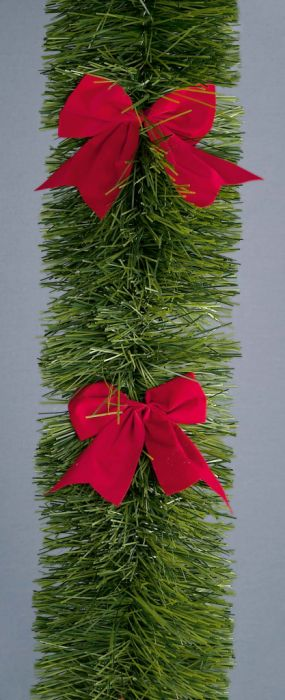 Tinsel With Red Bows
