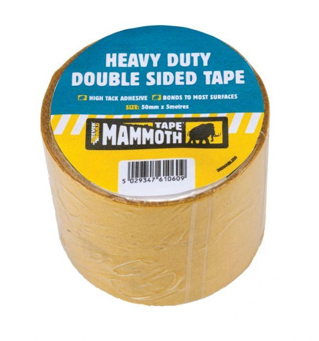 Kwikgrip Heavy Duty Double Sided Tape 50Mm X 5M Beige