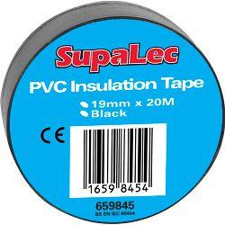 Supalec Pvc Insulation Tapes Black 20M Pack 10