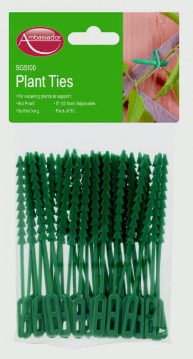 Ambassador Adjustable Plant Ties 33Cm