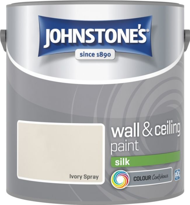 Johnstone's Wall & Ceiling Silk 2.5L Ivory Spray