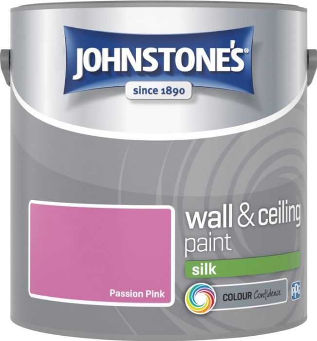 Johnstone's Wall & Ceiling Silk 2.5L Passion Pink
