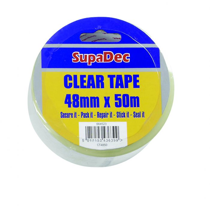 Supadec Clear Tape 48Mm X 50M