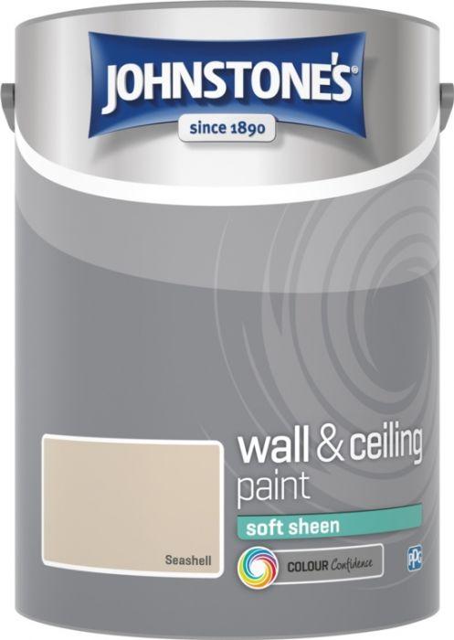 Johnstone's Wall & Ceiling Soft Sheen 5L Seashell