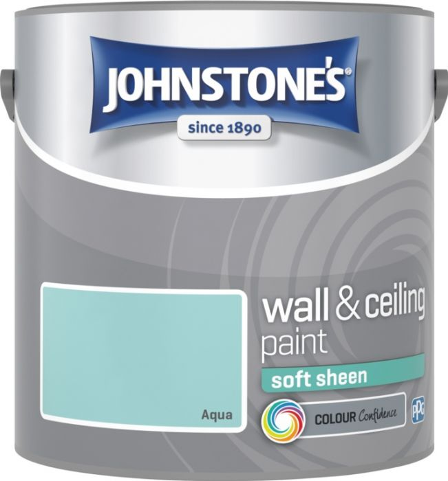 Johnstone's Wall & Ceiling Soft Sheen 2.5L Aqua
