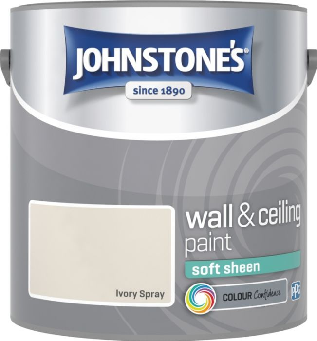 Johnstone's Wall & Ceiling Soft Sheen 2.5L Ivory Spray