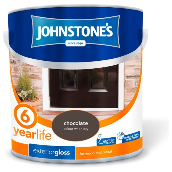 Johnstone's Exterior Hardwearing Gloss 2.5L Chocolate