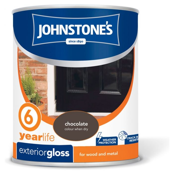 Johnstone's Exterior Hardwearing Gloss 750Ml Chocolate