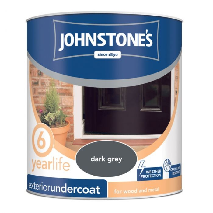 Johnstone's Exterior Undercoat 750Ml Dark Grey
