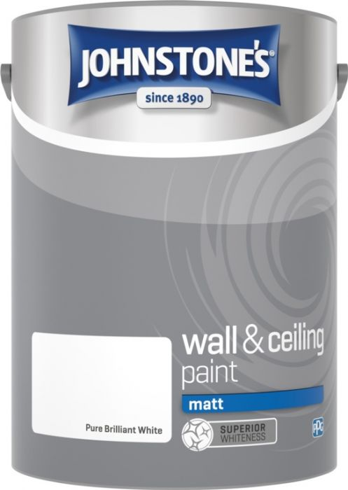 Johnstone's Wall & Ceiling Matt - Brilliant White 5L